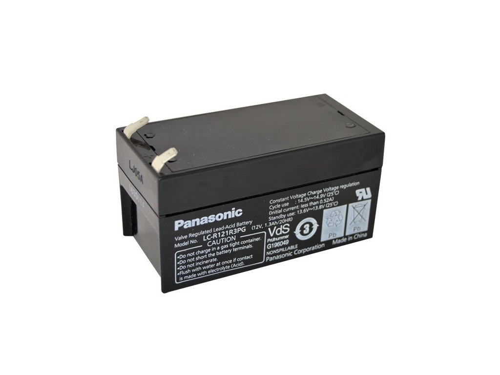 Panasonic LC-R121R3PG, 12V - 1.3Ah, záložní baterie