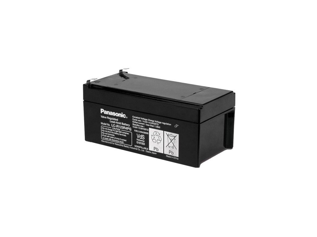 Panasonic LC-R123R4PG, 12V - 3.4Ah, záložní baterie