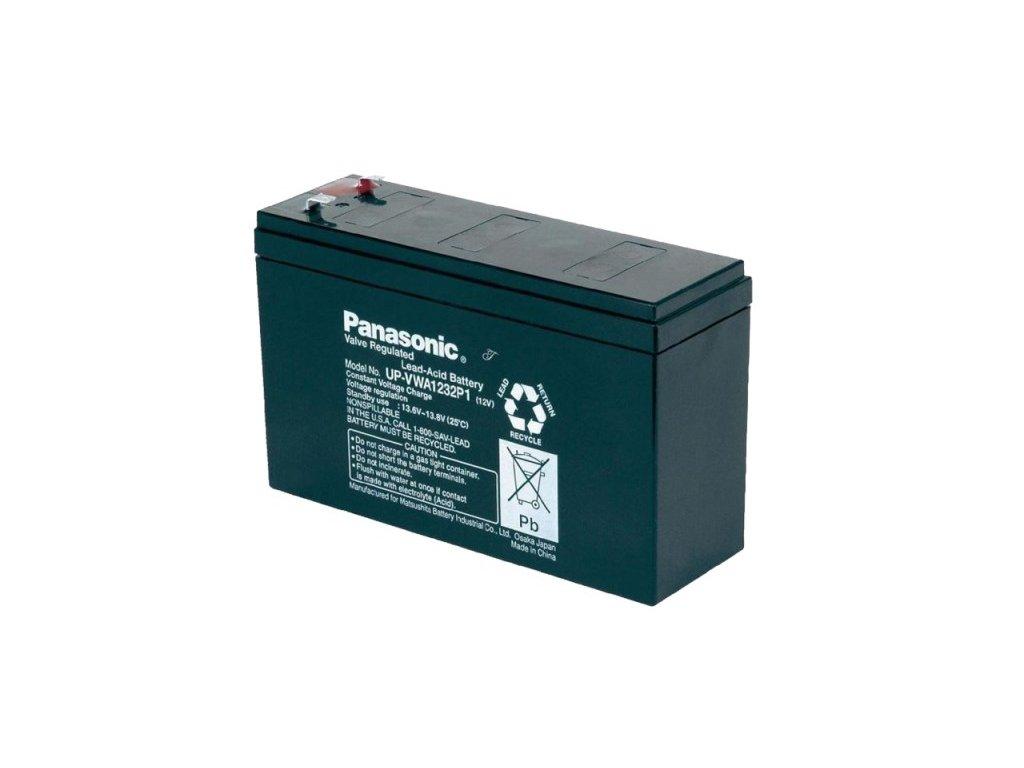 Panasonic UP-VWA1232P2, 12V - 6.6Ah, záložní baterie