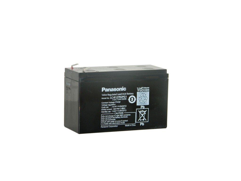 Panasonic LC-R127R2PG1, 12V - 7.2Ah, záložní baterie