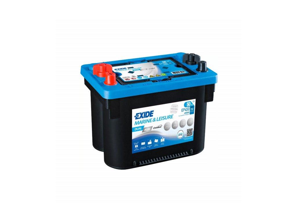 Baterie EXIDE DUAL AGM 50Ah, 12V, EP450 (EP 450)