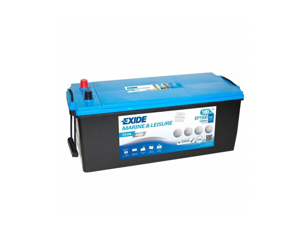 Baterie EXIDE DUAL AGM 180Ah, 12V, EP1500 (EP 1500)