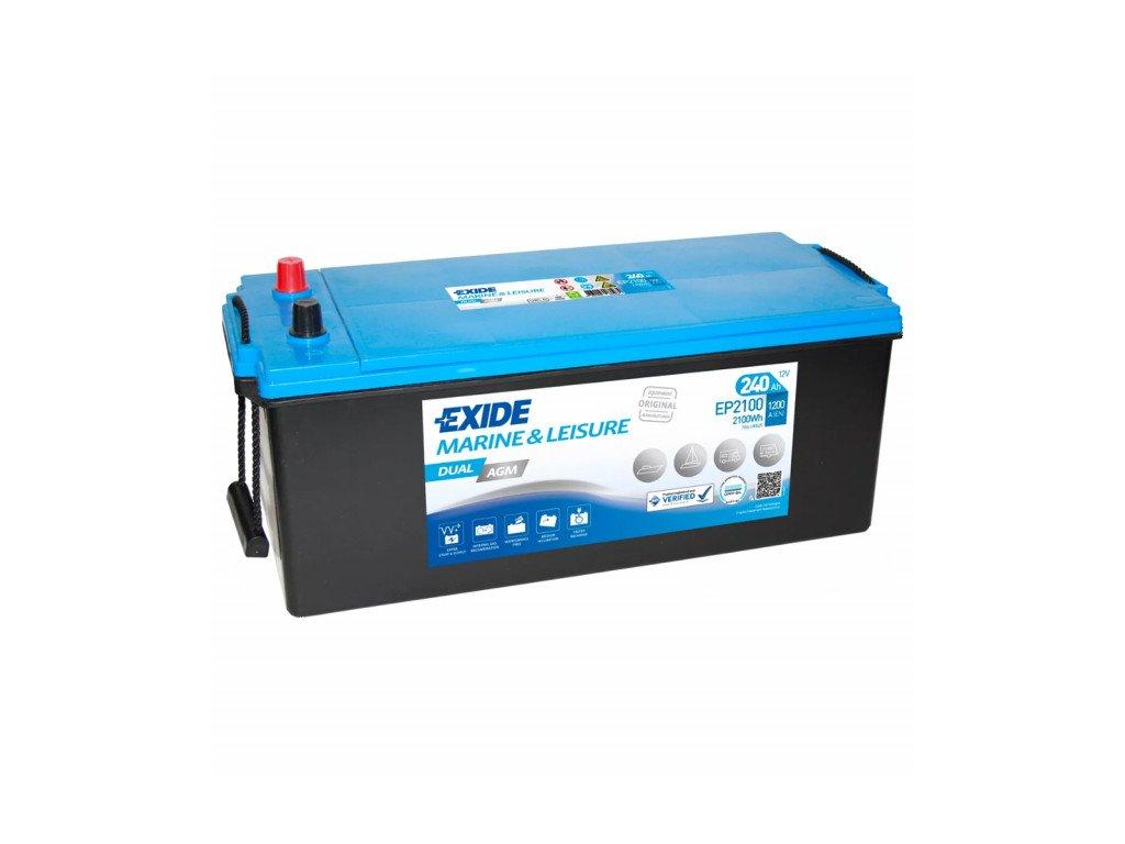 Baterie EXIDE DUAL AGM 240Ah, 12V, EP2100 (EP 2100)