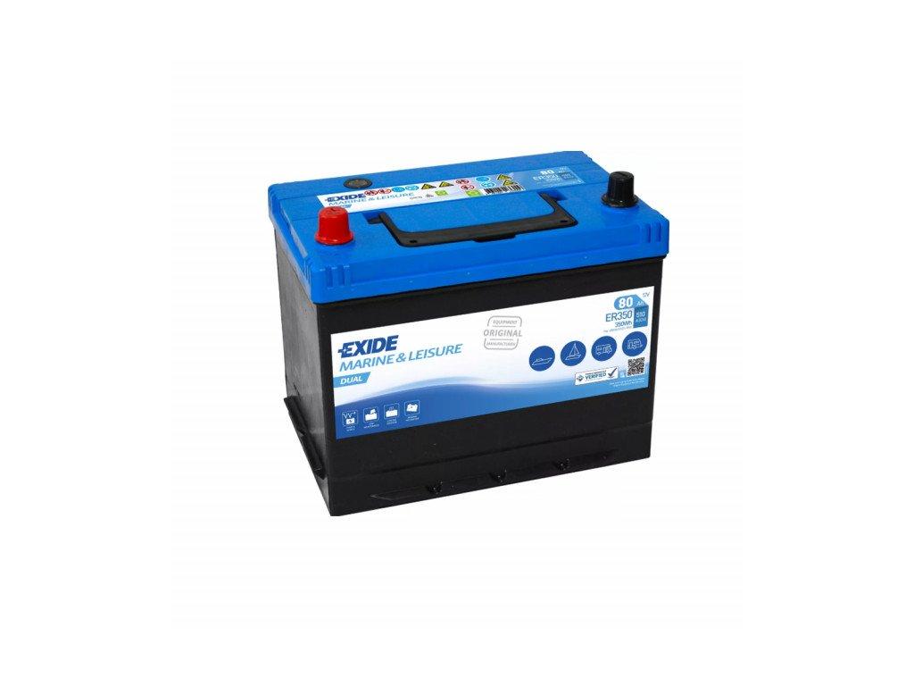 Baterie EXIDE DUAL 80Ah, 12V, ER350 (ER 350)