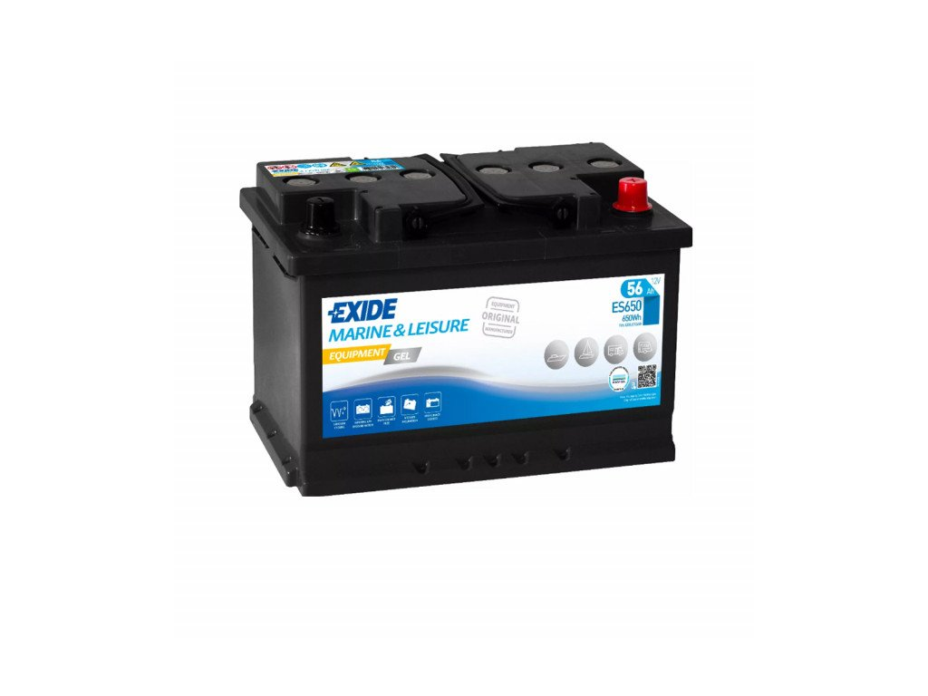 Baterie EXIDE EQUIPMENT GEL 56Ah, 12V, ES650 (ES 650)
