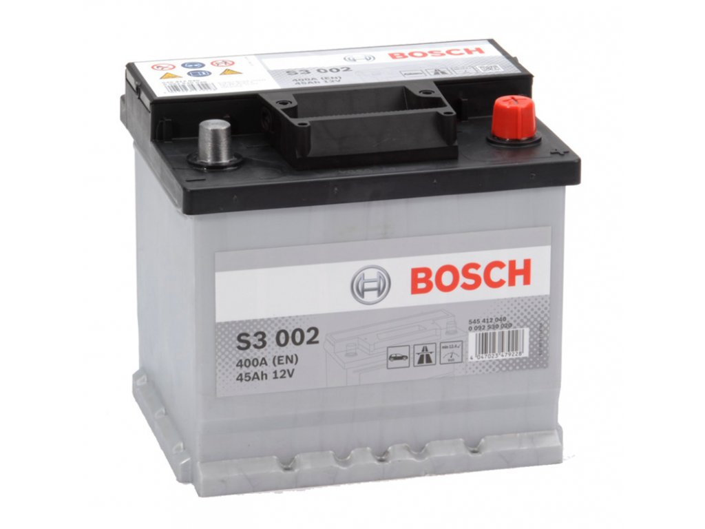 Autobaterie BOSCH S3 002, 45Ah, 12V (0 092 S30 020)
