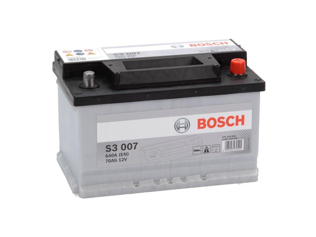 Autobaterie BOSCH S3 007, 70Ah, 12V (0 092 S30 070)