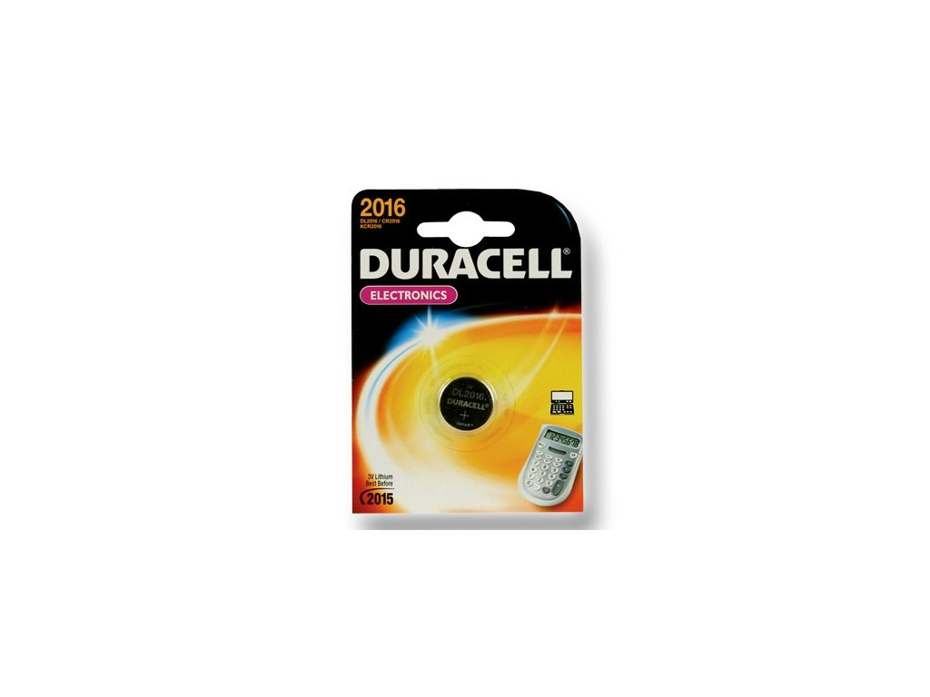 DURACELL knoflíkový článek 3V, CR2016 (DL2016)