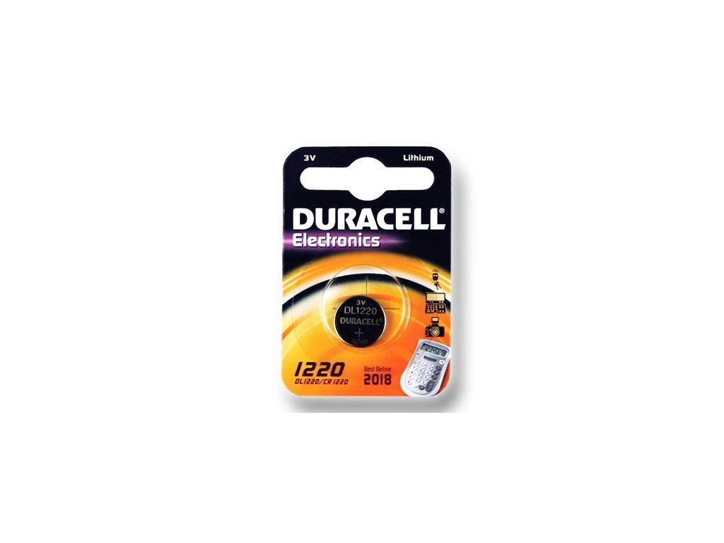 DURACELL knoflíkový článek 3V, CR1220 (DL1220)