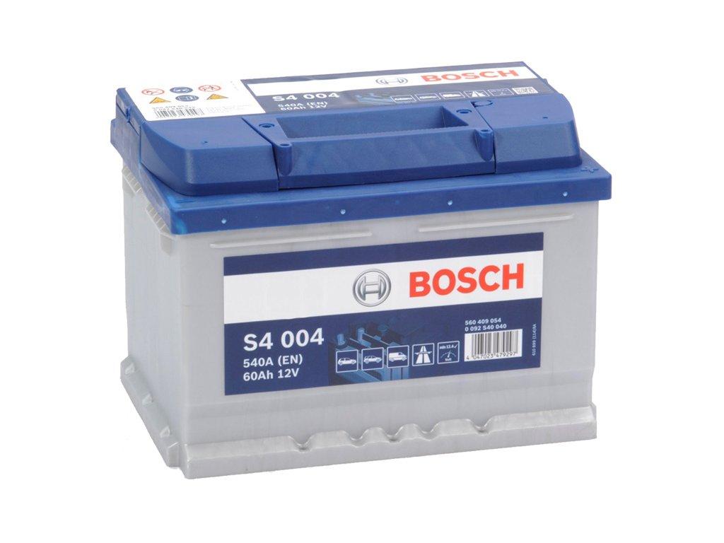 Autobaterie BOSCH S4 004, 60Ah, 12V (0 092 S40 040)