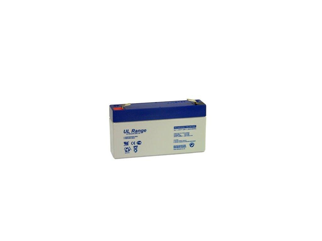 Ultracell UL1.3-6 (6V - 1,3Ah), VRLA-AGM záložní baterie
