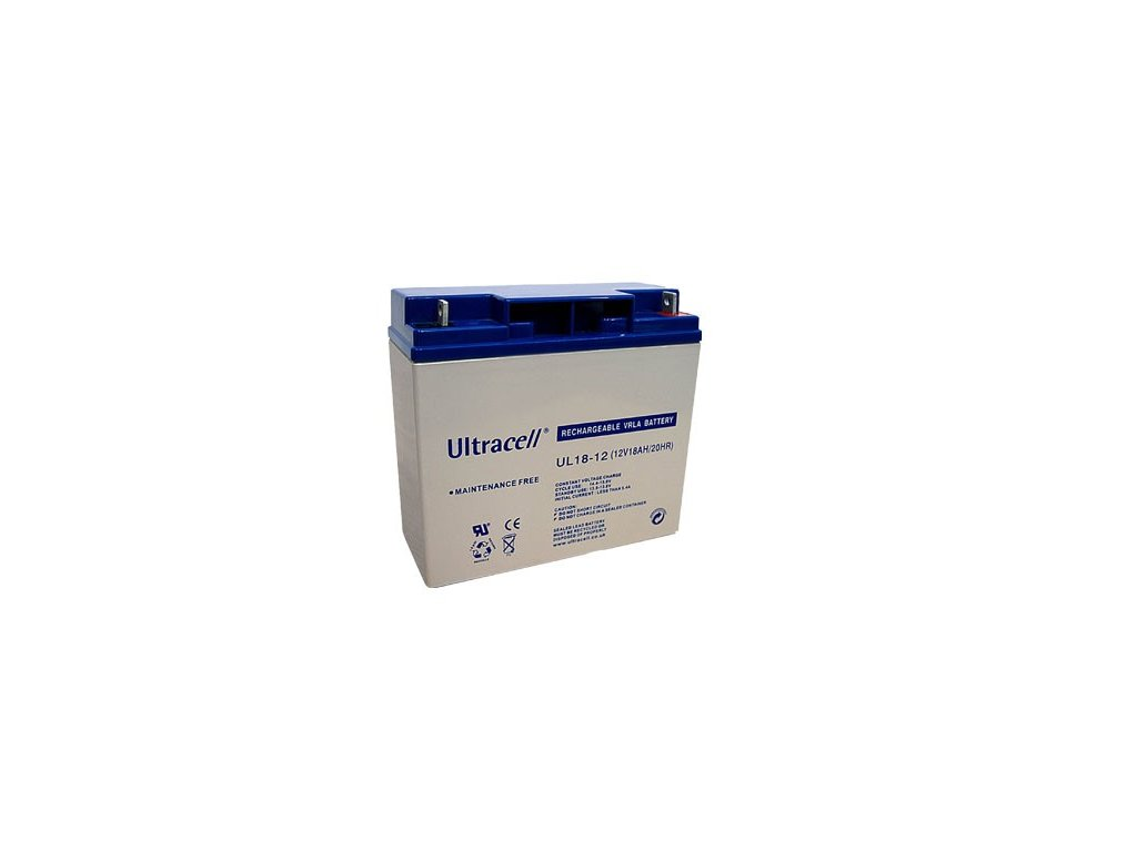 Ultracell UL18-12 (12V - 18Ah), VRLA-AGM záložní baterie