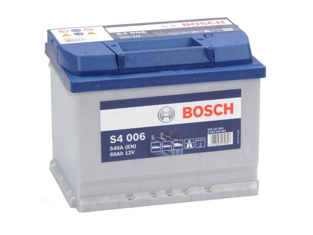 Autobaterie BOSCH S4 006, 60Ah, 12V (0 092 S40 060)