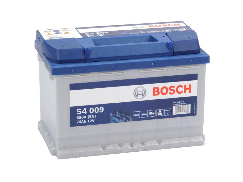 Autobaterie BOSCH S4 009, 74Ah, 12V (0 092 S40 090)