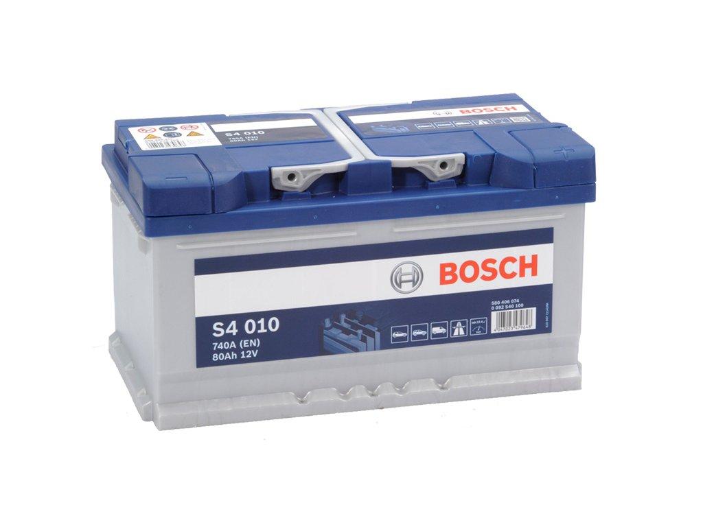 Autobaterie BOSCH S4 010, 80Ah, 12V (0 092 S40 100)
