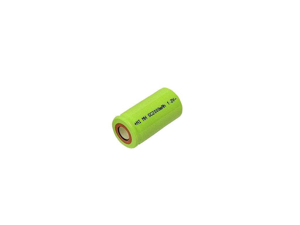 Nabíjecí průmyslový článek, baterie NiMh Sub-C SC 1,2V 2000mAh