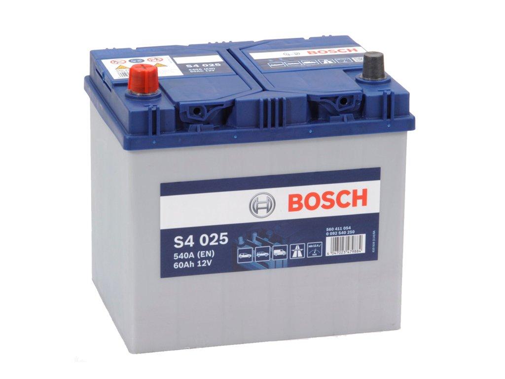 Autobaterie BOSCH S4 025, 60Ah, 12V (0 092 S40 250)