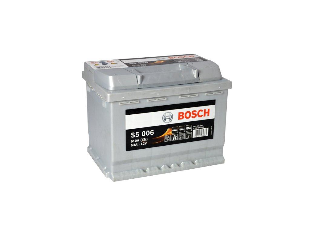 Autobaterie BOSCH S5 006, 63Ah, 12V (0 092 S50 060)