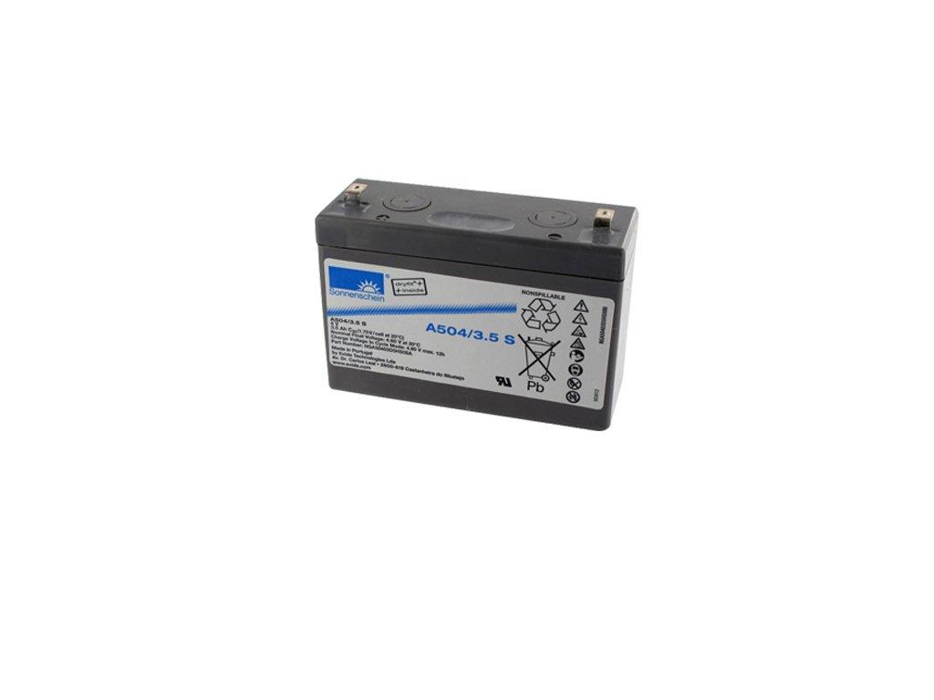 Gelový trakční akumulátor SONNENSCHEIN A504/3.5 S, 4V, 3,5Ah