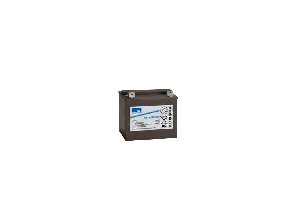 Gelový trakční akumulátor SONNENSCHEIN A512/30 G6, 12V, 30Ah