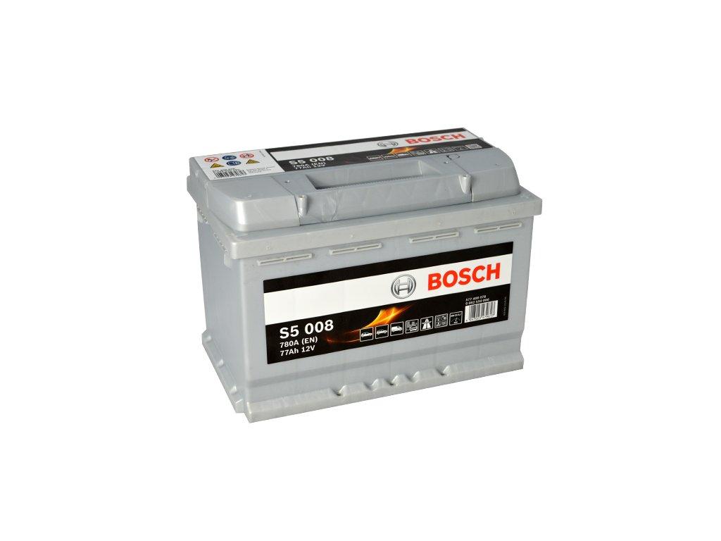 Autobaterie BOSCH S5 008, 77Ah, 12V (0 092 S50 080)