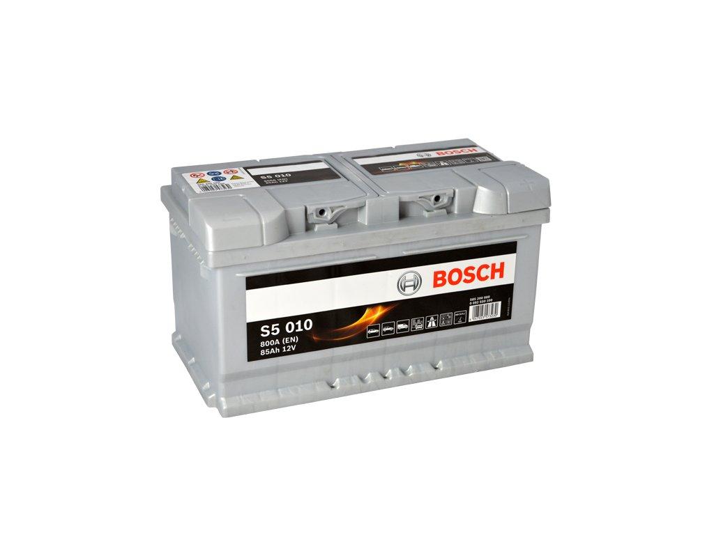 Autobaterie BOSCH S5 010, 85Ah, 12V (0 092 S50 100)