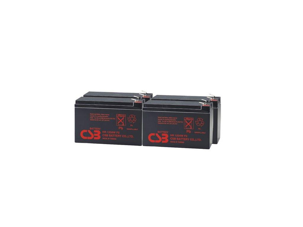 APC RBC132, alternativa bez příslušenství (4ks CSB HR1234W F2)