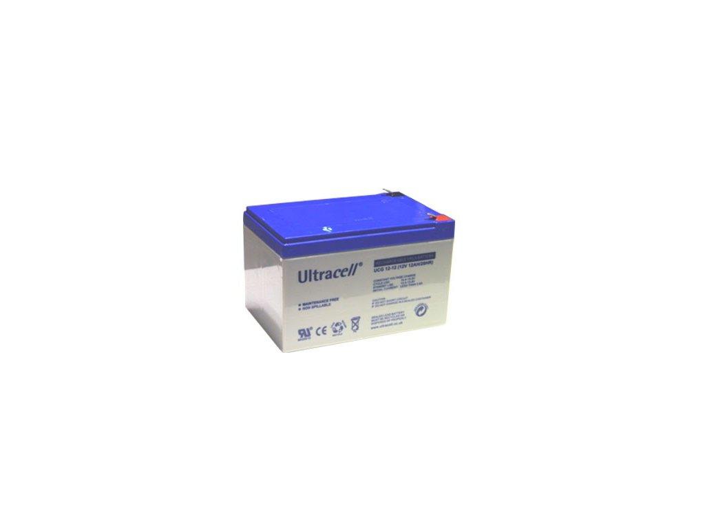 Ultracell UCG12-12 (12V - 12Ah), VRLA-GEL trakční baterie