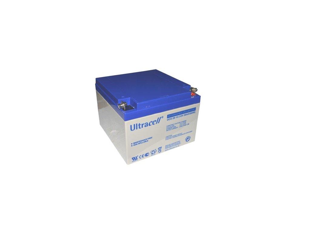 Ultracell UCG26-12 (12V - 26Ah), VRLA-GEL trakční baterie