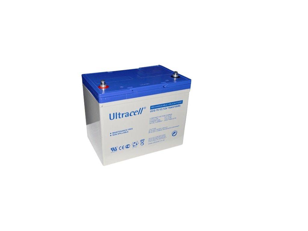 Ultracell UCG75-12 (12V - 75Ah), VRLA-GEL trakční baterie