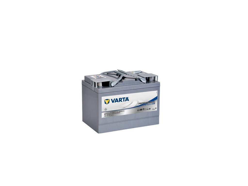 Trakční baterie Varta AGM Professional 830 060 037, 12V - 60Ah, LAD60A