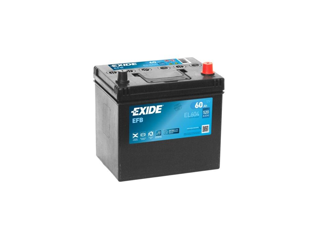 Autobaterie EXIDE START-STOP EFB 60Ah, 12V, EL604