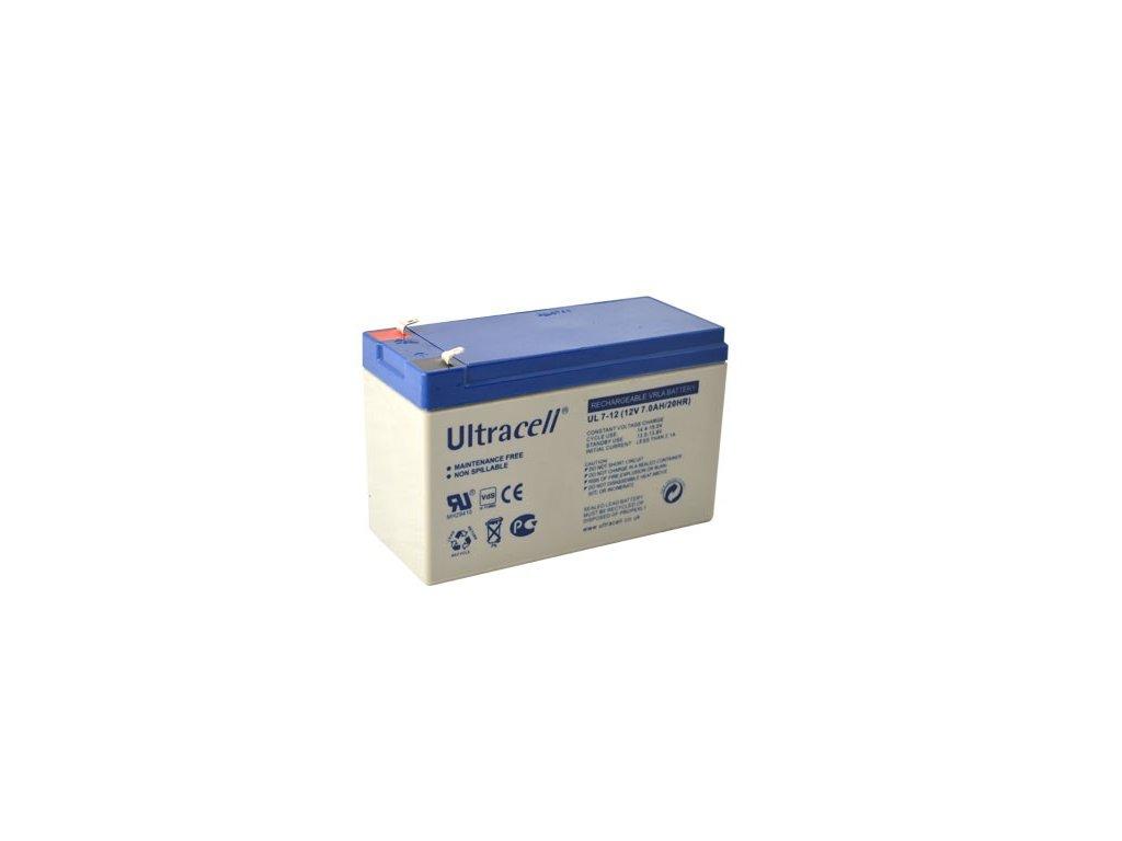 Ultracell UL7-12F1 (12V - 7Ah), VRLA-AGM záložní baterie