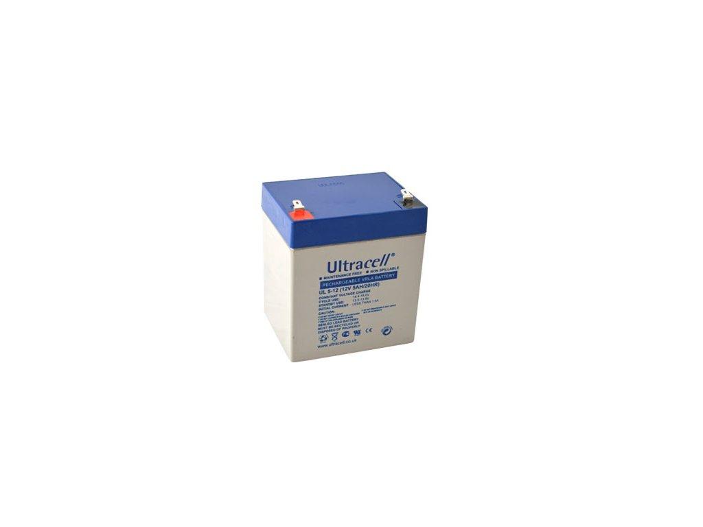 Ultracell UL5-12F1 (12V - 5Ah), VRLA-AGM záložní baterie
