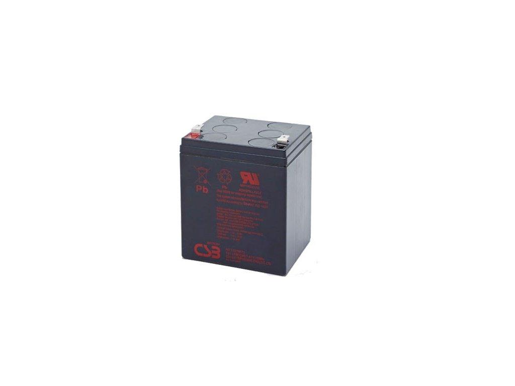Baterie CSB HR1227W F2, 12, 6,5Ah