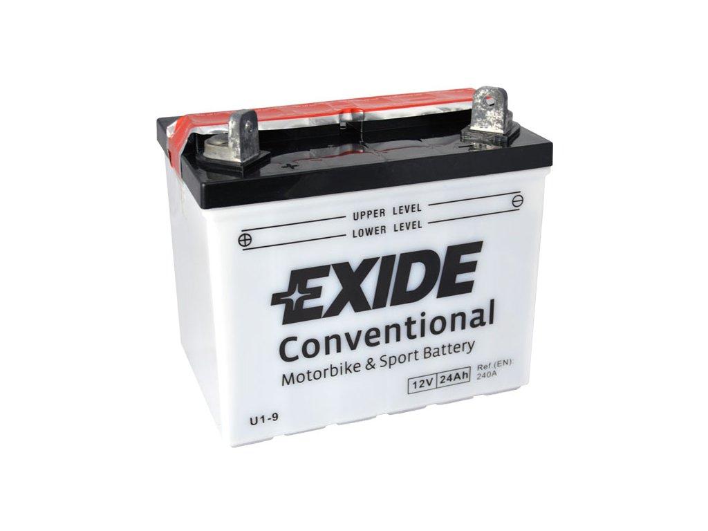 Baterie EXIDE BIKE Conventional 24Ah, 12V, U1-9
