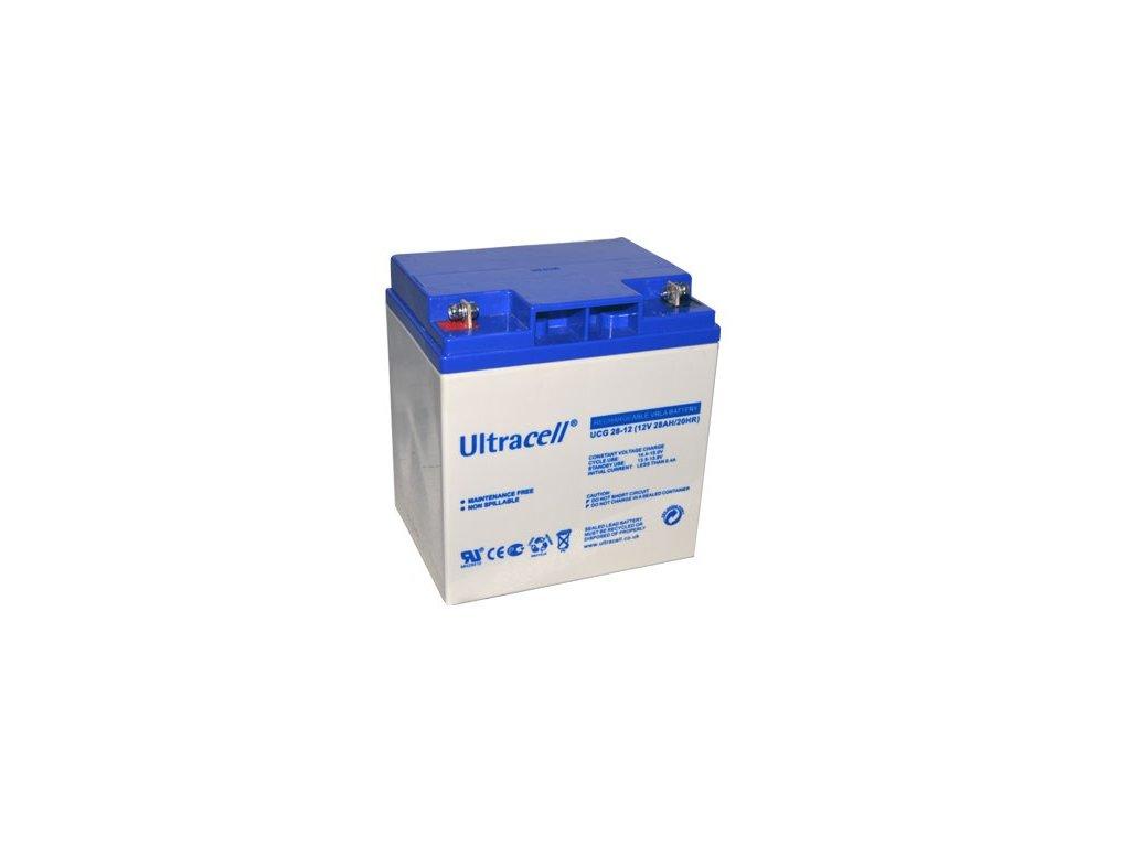 Ultracell UCG28-12 (12V - 28Ah), VRLA-GEL trakční baterie