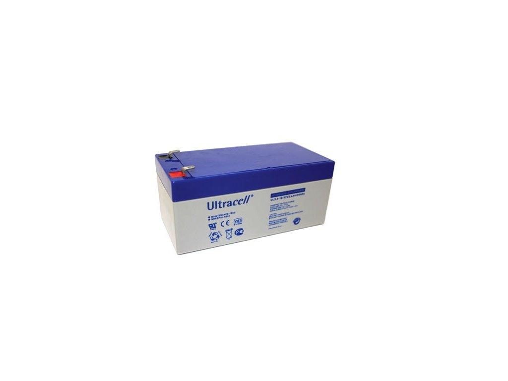 Ultracell UL3.4-12 F1 (12V - 3,4Ah), VRLA-AGM záložní baterie