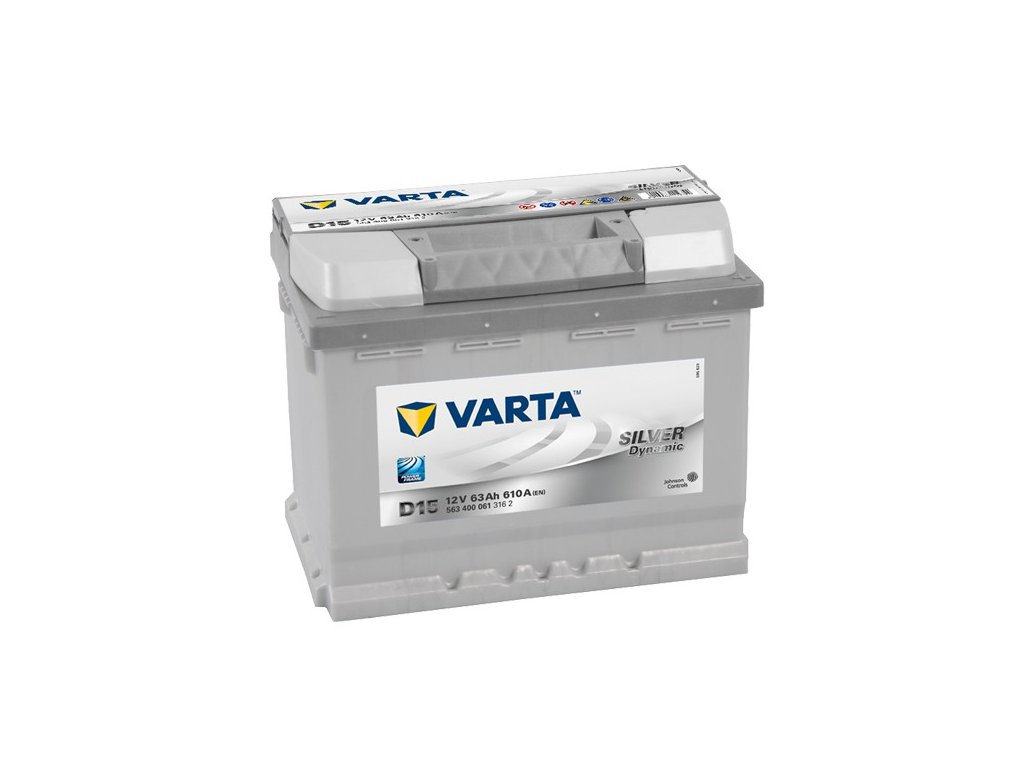 Autobaterie VARTA SILVER Dynamic 63Ah, 12V, D15