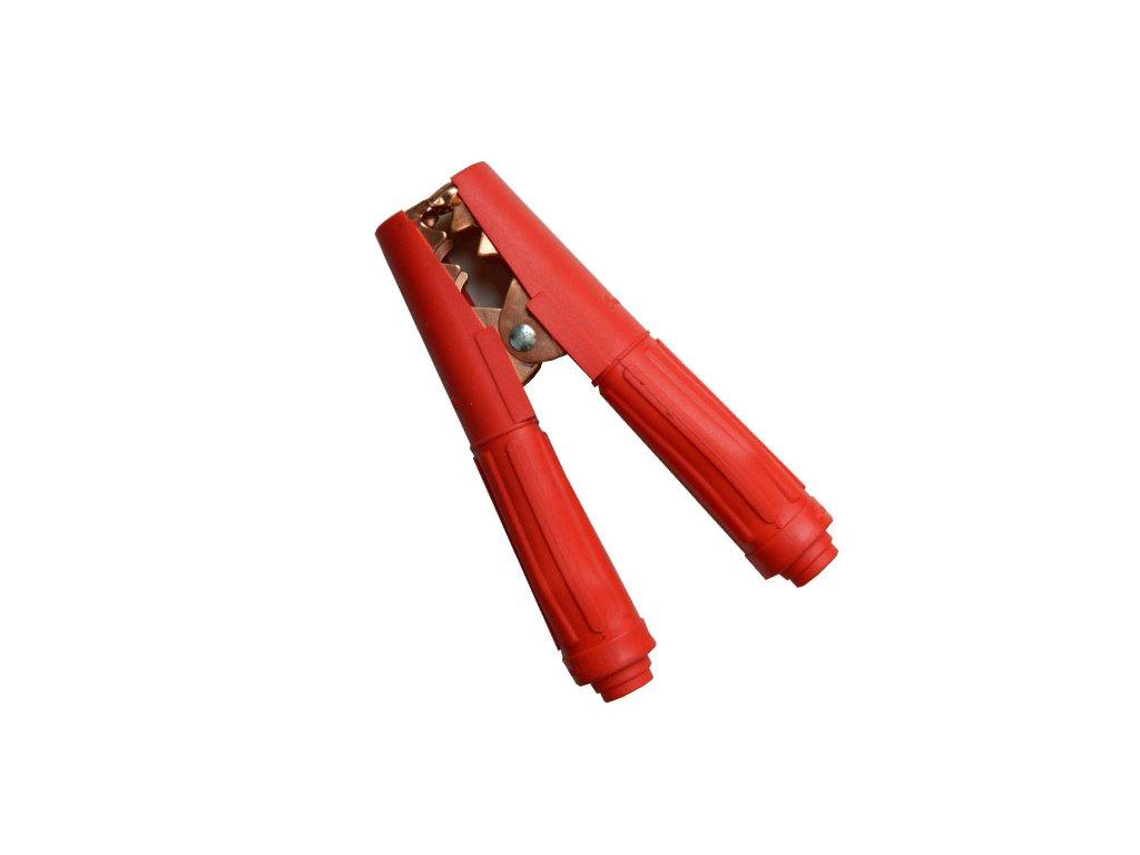 Kleště bateriové 500A, červené, 165mm