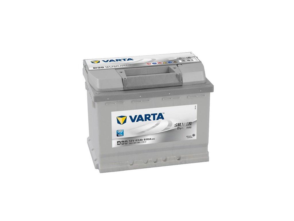 Autobaterie VARTA SILVER Dynamic 63Ah, 12V, D39