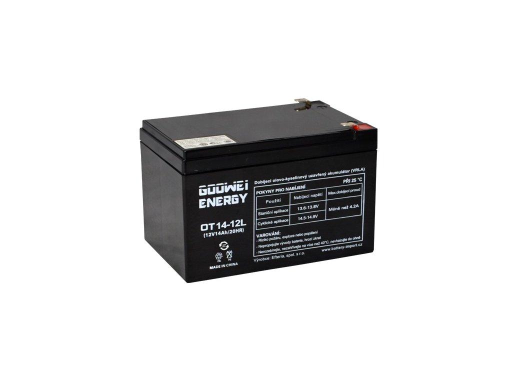 Trakční (AGM) baterie GOOWEI ENERGY OTL14-12, 14Ah, 12V