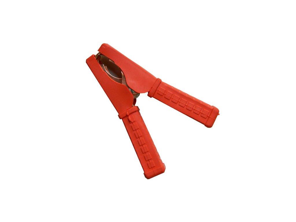 Kleště bateriové 100A, červené, 105mm