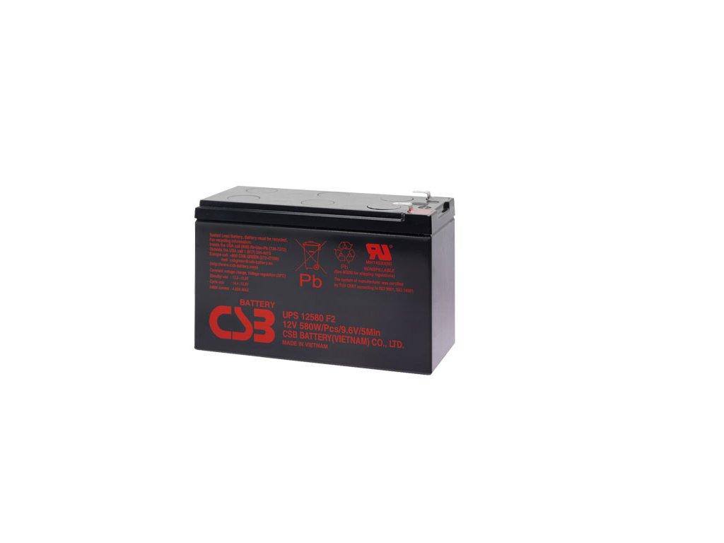 Baterie CSB UPS12580 F2, 12V, 9Ah (vysokozátěžová)