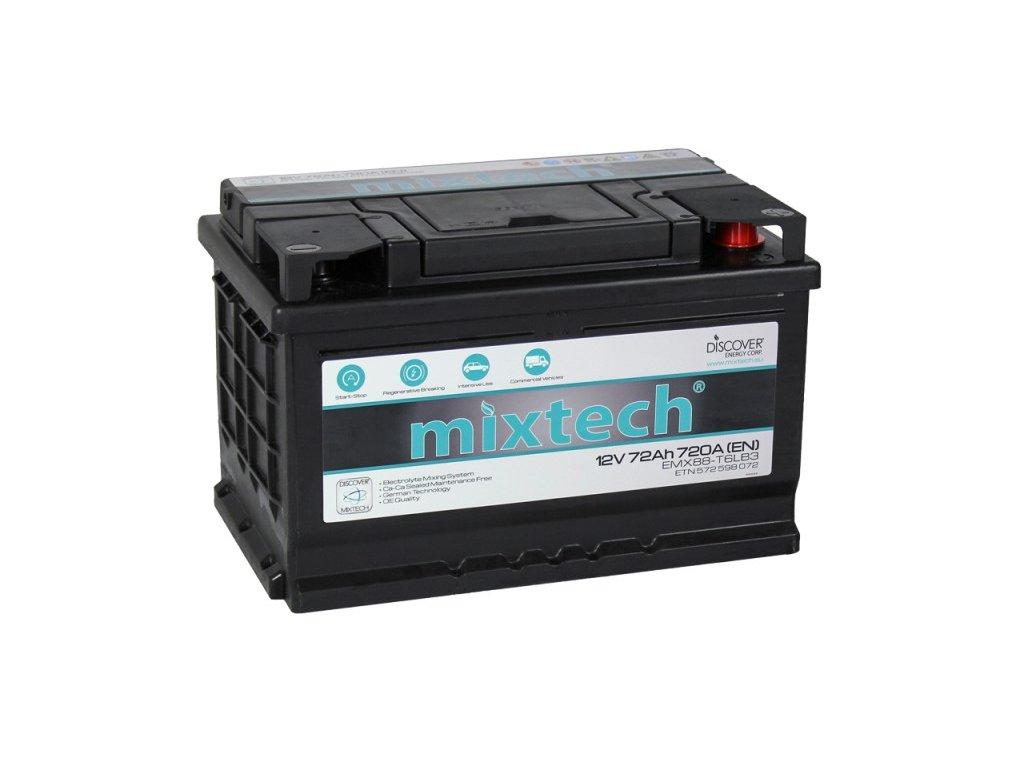 Autobaterie MIXTECH EMX MT72, 72Ah, 12V