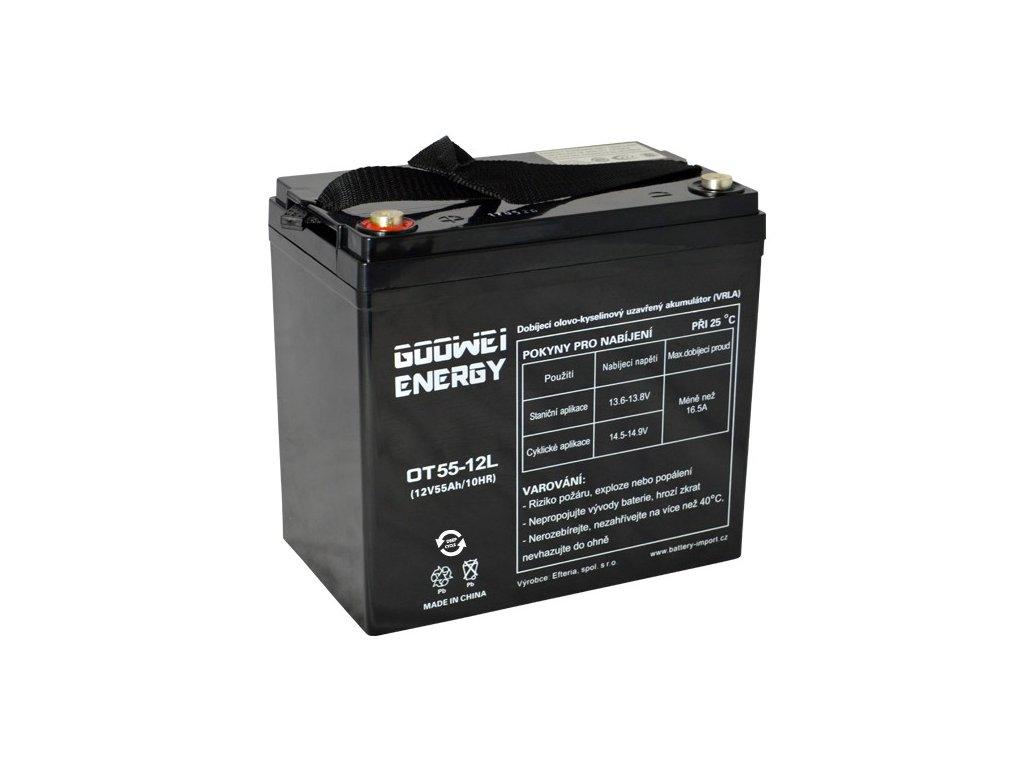 Trakční (GEL) baterie GOOWEI ENERGY OTL55-12, 55Ah, 12V