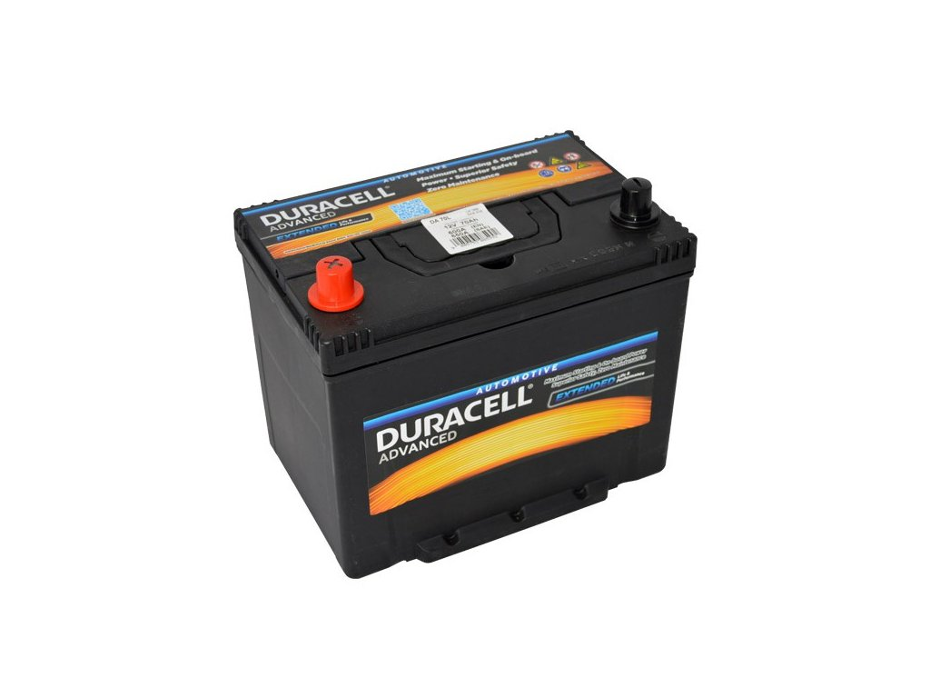Autobaterie Duracell Advanced DA 70L, 70Ah, 12V ( DA70L )