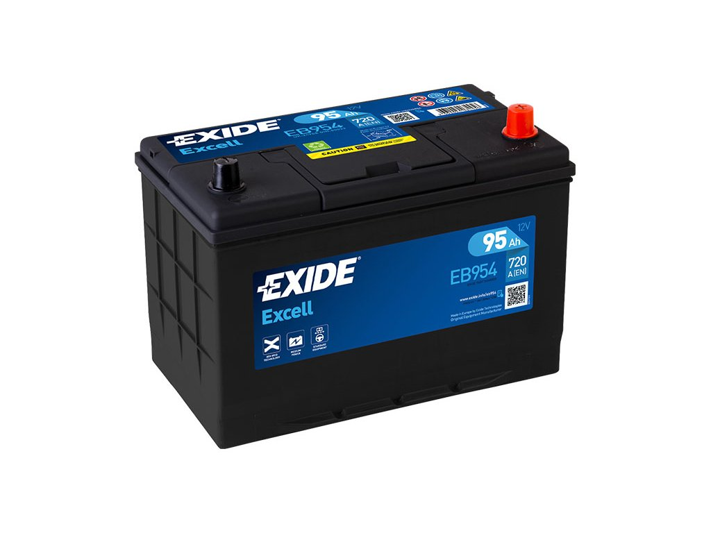 Autobaterie EXIDE Excell 95Ah, 720A, 12V, EB954