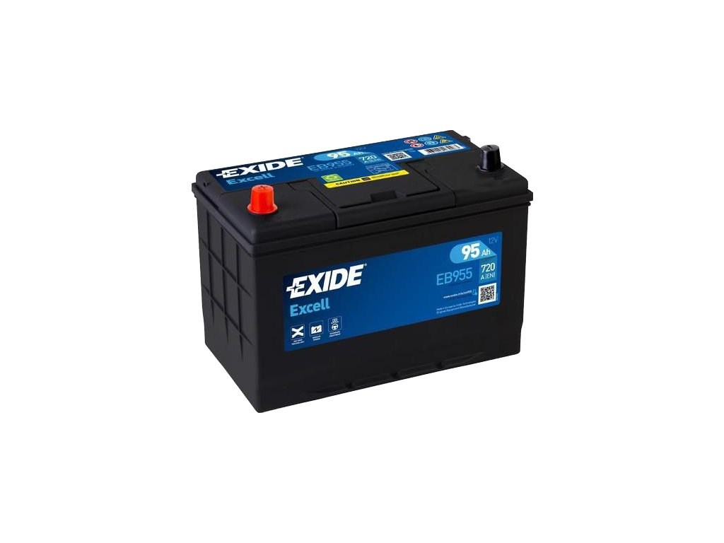 Autobaterie EXIDE Excell 95Ah, 720A, 12V, EB955