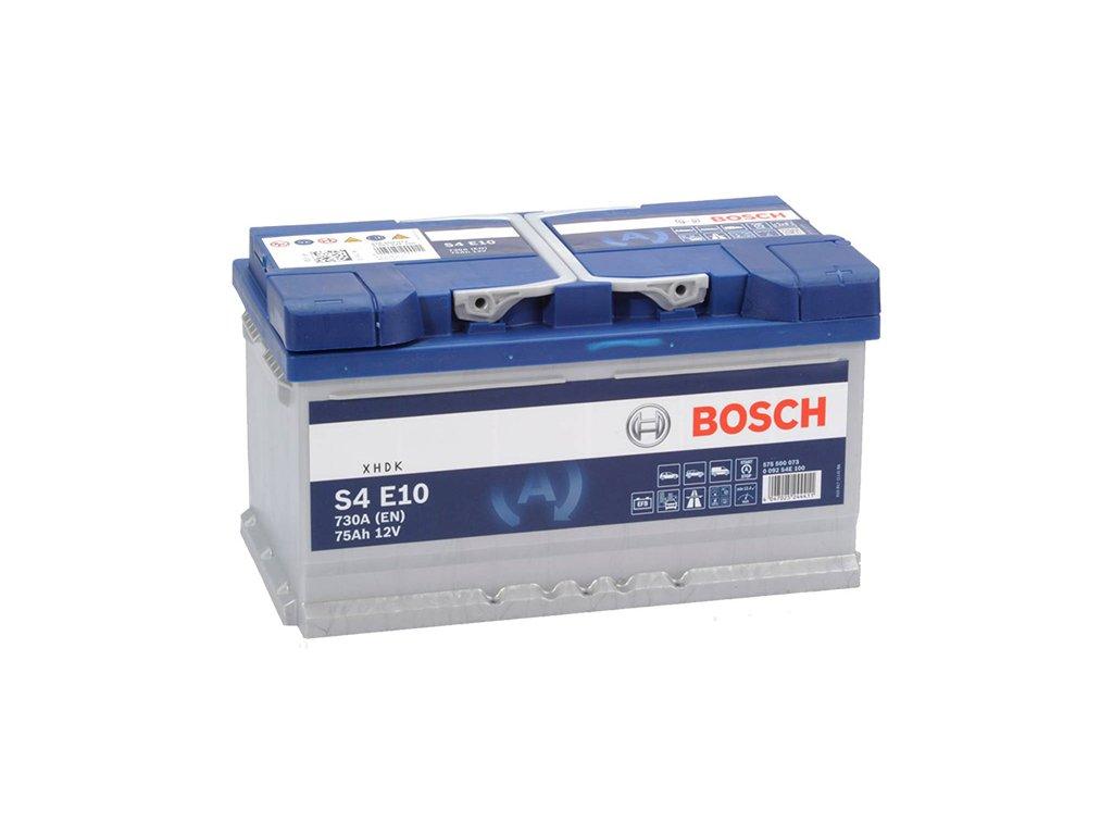 Autobaterie BOSCH S4 E10, 75Ah, 12V, EFB (0 092 S4E 100)